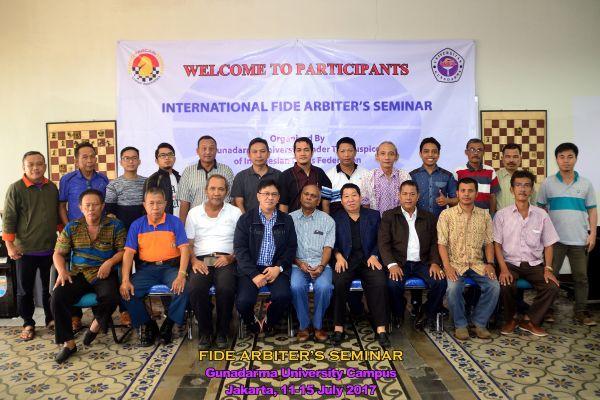 2017 INDONESIA   FIDE Arbiters Seminar