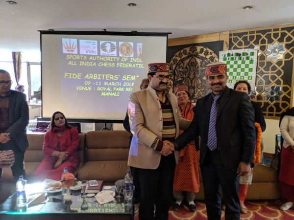 2018 INDIA 3 - MANALI  FIDE Arbiters Seminar-3