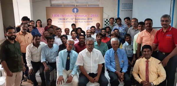 2018 INDIA 5 - HYDERABAD  FIDE Arbiters Seminar-1